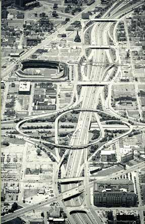 Detroit's downtown freeway system