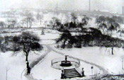 Peel Park in the snow